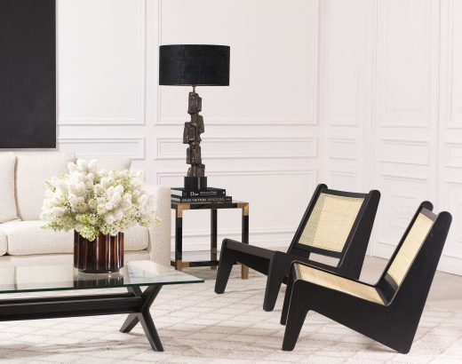 luxurious scandianvian armchairs in modern living room