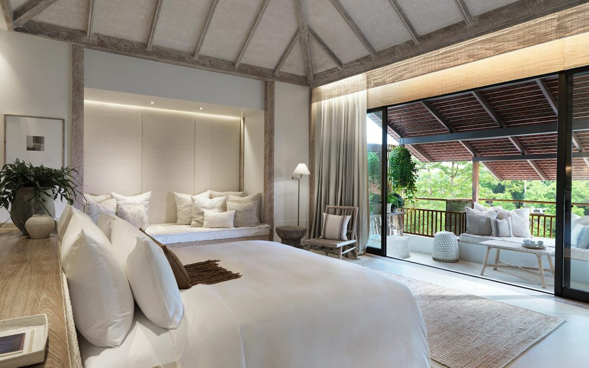 A luxurious bedroom suite