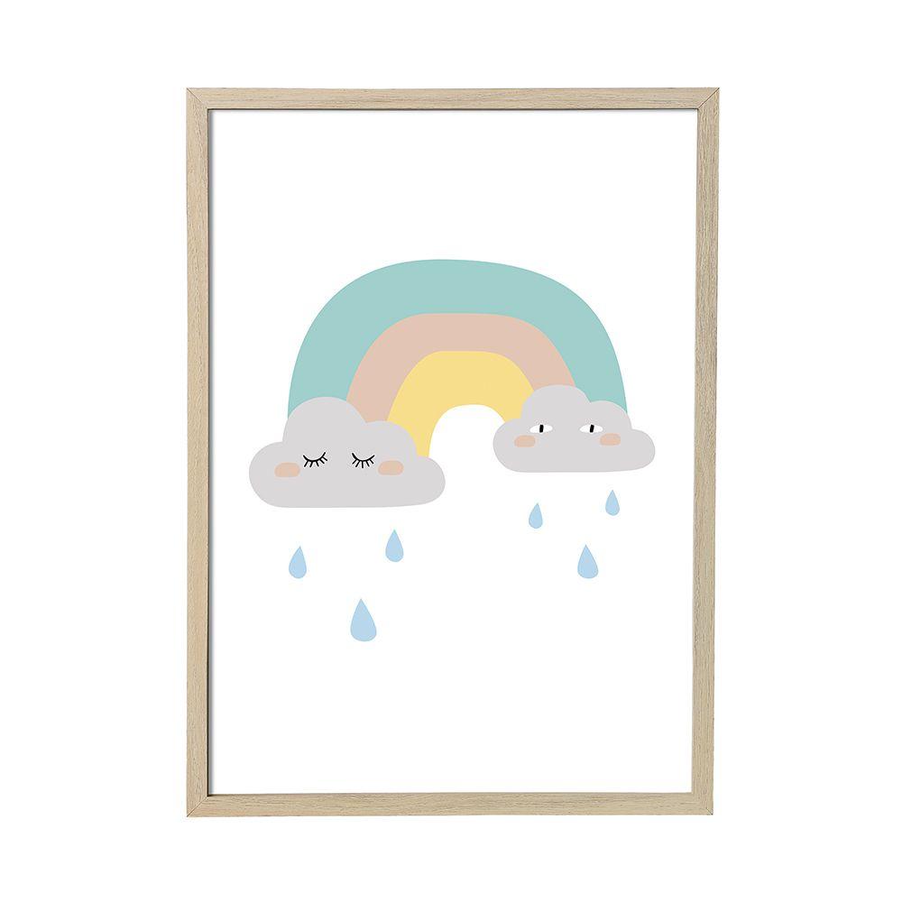 a multicoloured rainbow print