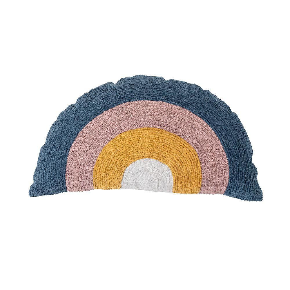 a semicircle rainbow cushion