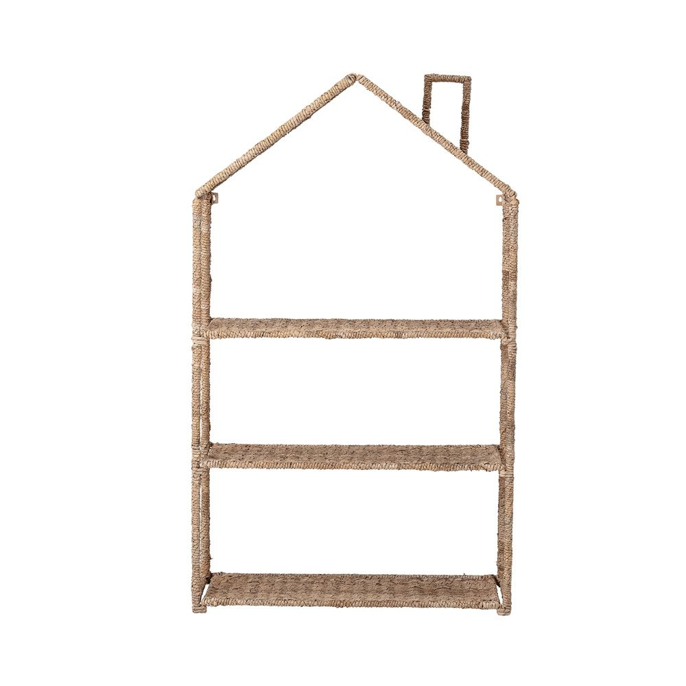 woven house-shaped bookcase