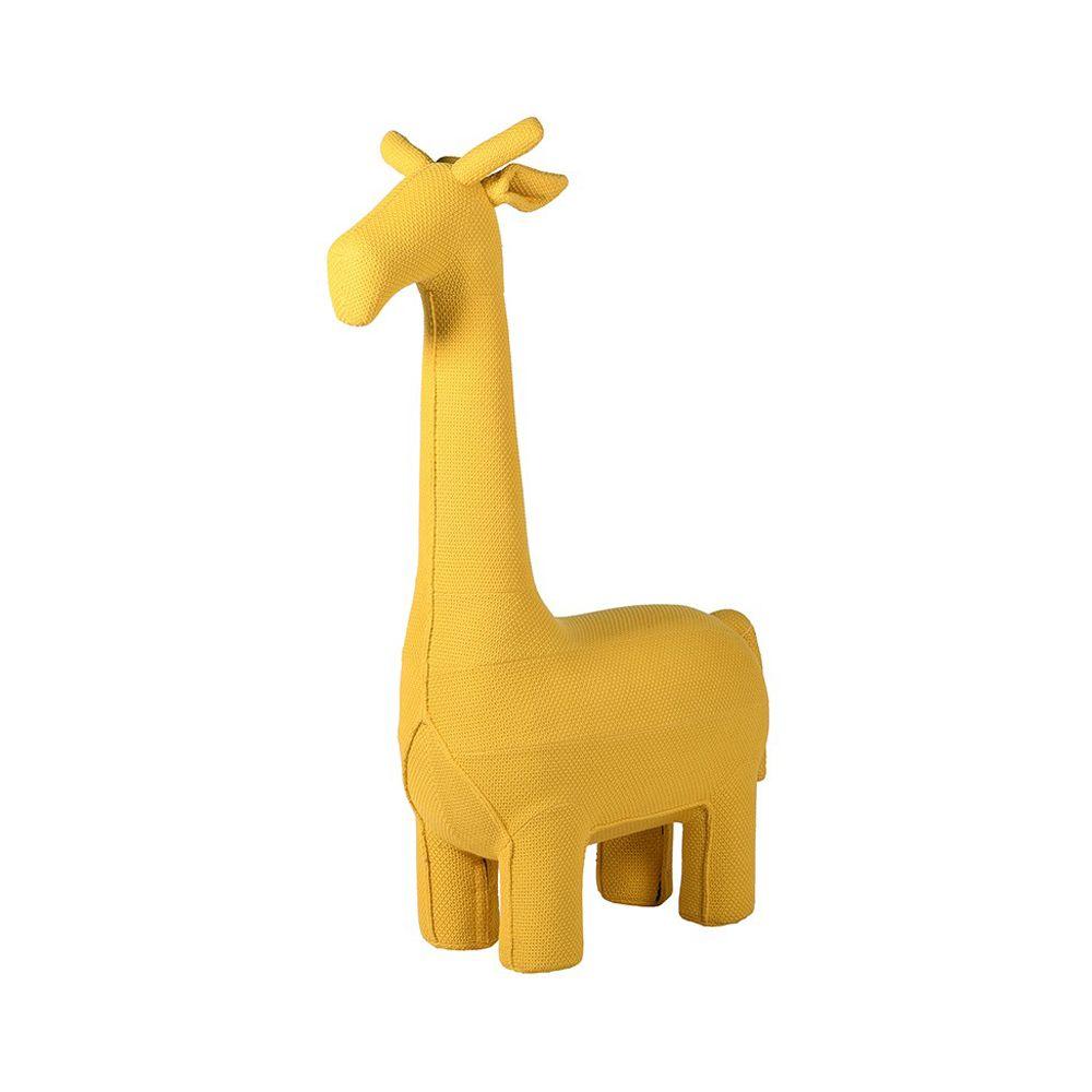 yellow giraffe stool