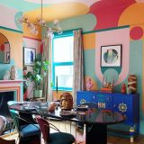 luxurious colourful dining room