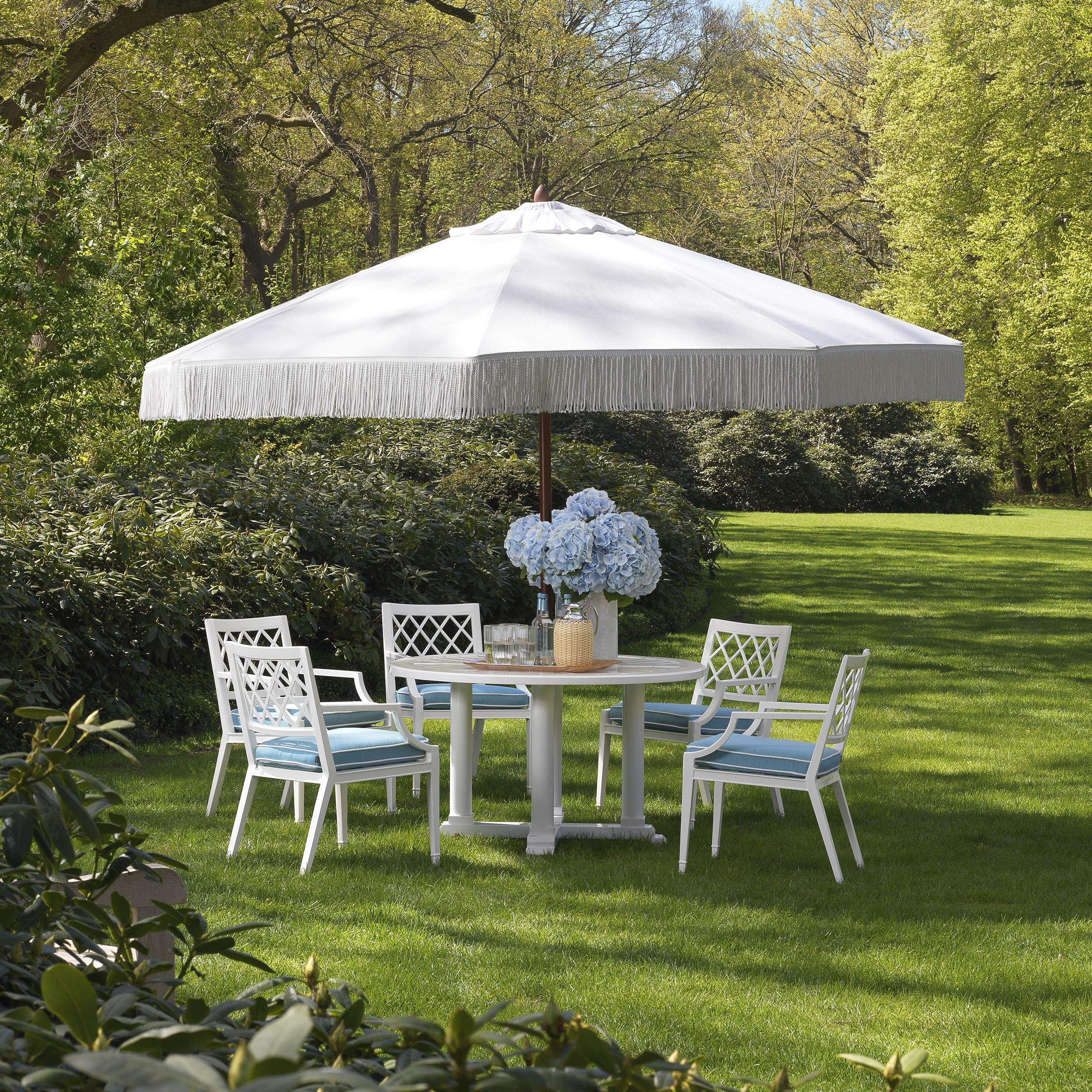 a luxurious outdoor dining space