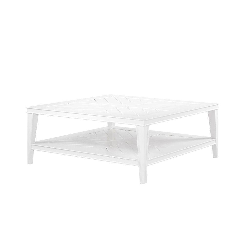 white garden coffee table