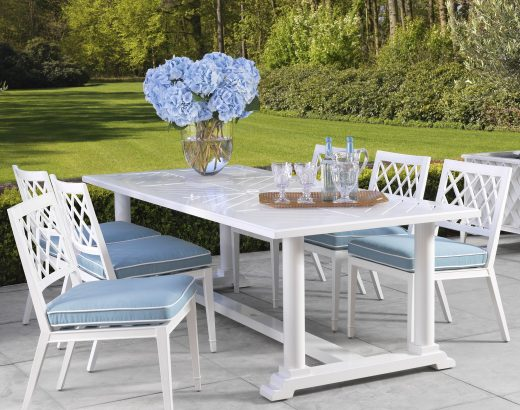 a luxurious outdoor dining arrangement