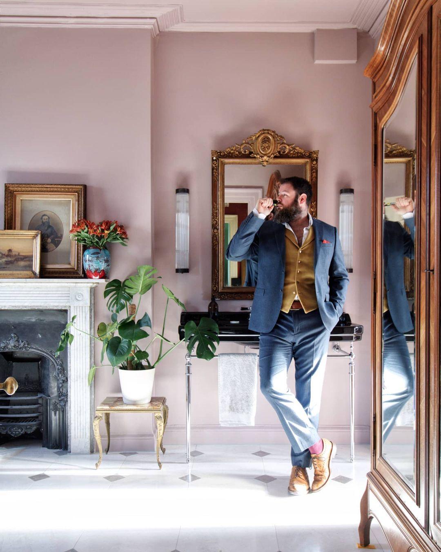 Greg Penn in his stunning bathroom