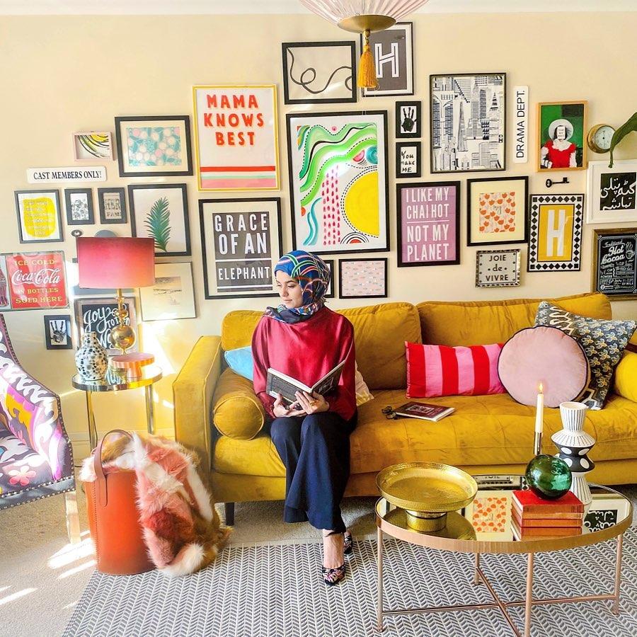 Amara Hasham in her fabulous living room