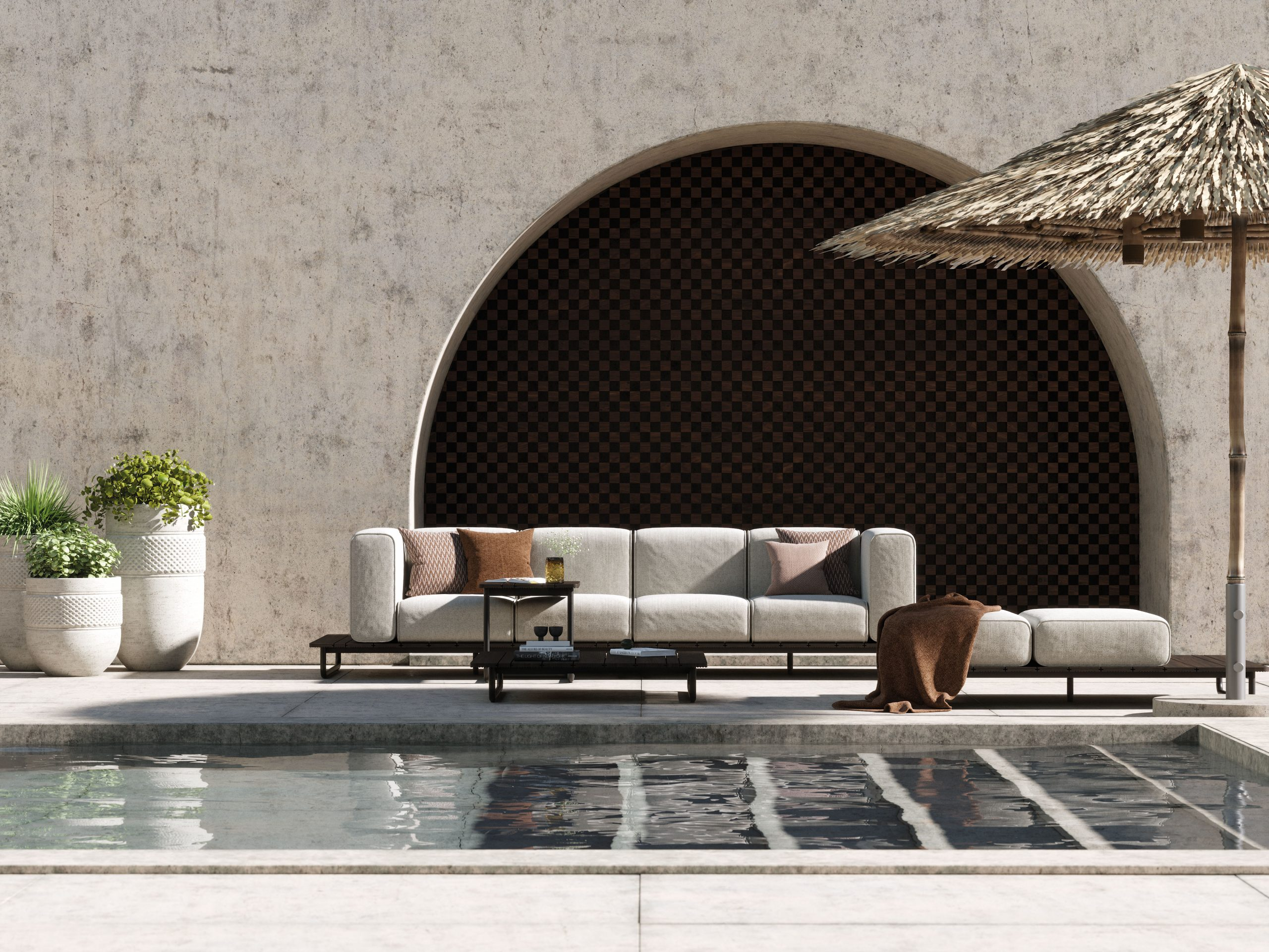 a luxurious outdoor space
