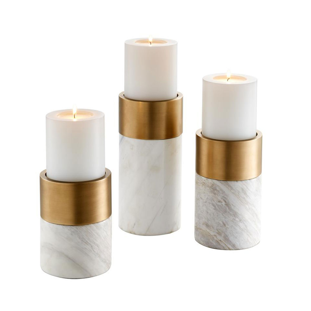 Eichholtz Sierra Candle Holders - Brass