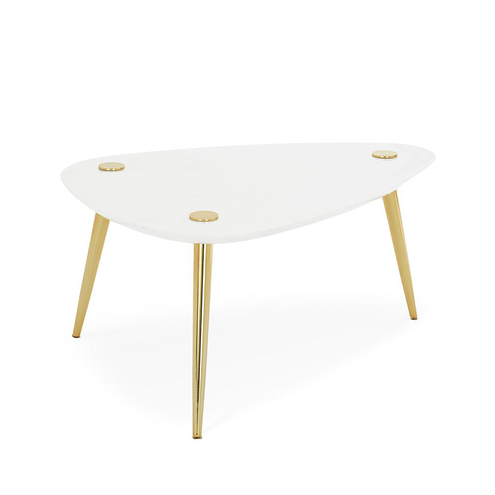Jonathan Adler Large Marble Triangle Table