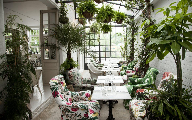 A luxurious botanical restaurant