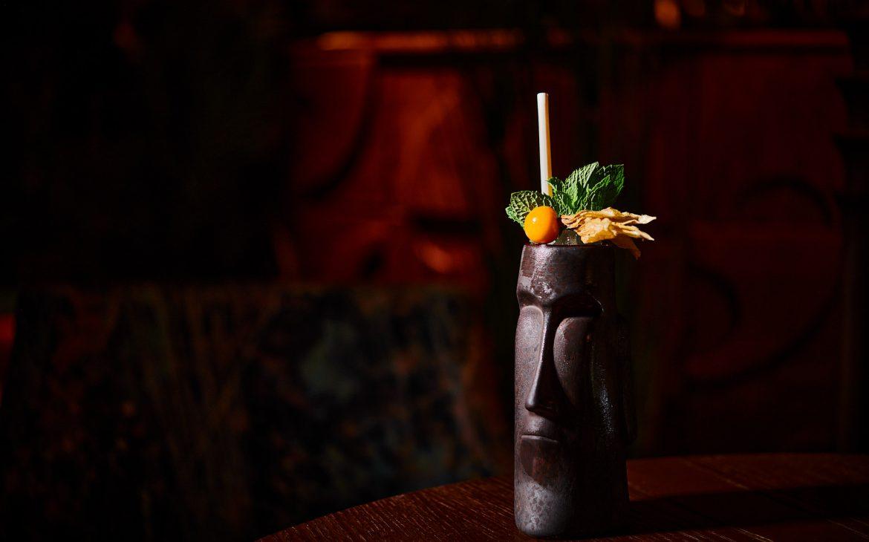a stylish tiki cocktail