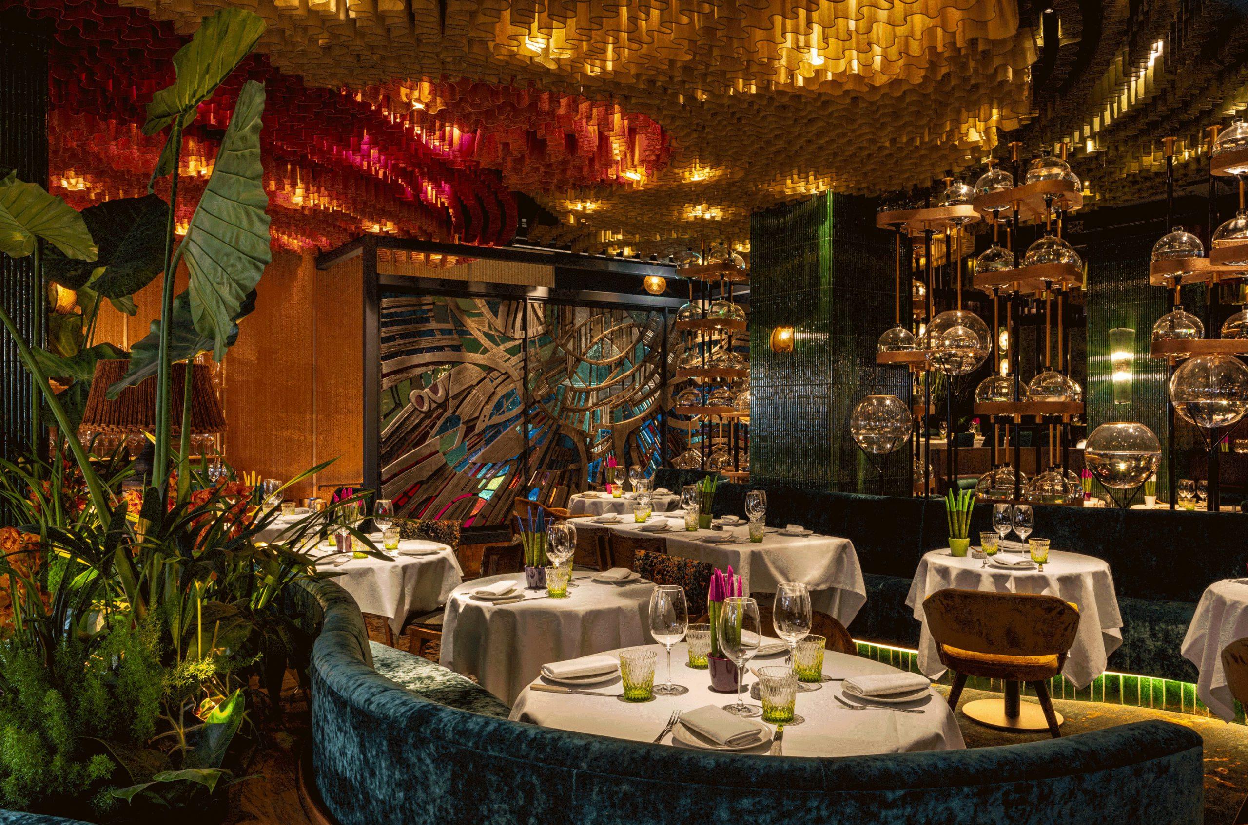 an exotic amazonian restaurant