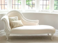 Classical White Chaise Longue