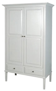 Nordic Grey 2-Door Wardrobe
